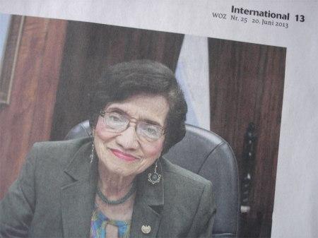 El Salvadors Gesundheitsministerin Maria Isabel Rodriguez kämpft für ein Verbot des Herbizids Paraquat. Dieses ist in der Schweiz und der EU längst verboten.