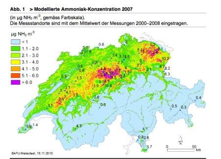 Der Kanton Thurgau ist in dieser Grafik leicht zu finden (viel rot im Nordosten).