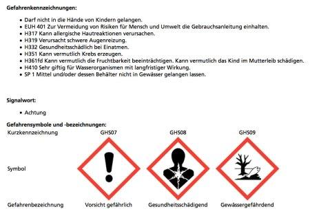 Dieses Pflanzenschutzmittel darf aus der Luft über Rebbergen versprüht werden.