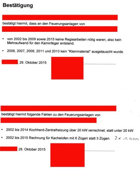 Lachend unterschrieb der Kaminfegermeister die Bestätigung mit den betrügerisch verrechneten Posten, die ihm Heidi vorlegte.