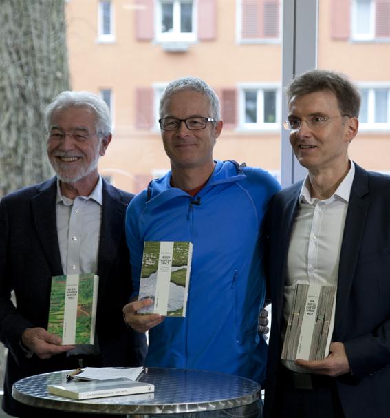 Von links nach rechts die drei Autoren: Hans Rudolf Herren, Ernst Bromeis und Joachim° Ackva. Copyright Verlag rüffer & rub.