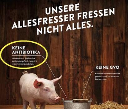 Ausschnitt aus unlautere Werbung von Proviande