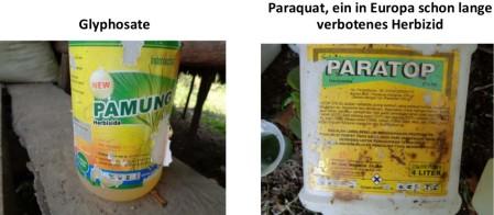 Der Aufwuchs wird mit Glyphosat und dem noch gefährlicheren Paraquat abgespritzt. Die Produktenamen wurden einfach geändert.