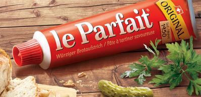 """Aus der Werbung: """"Wer kennt ihn nicht, diesen kultigen Brotaufstrich, der 1950 in Freiburg erfunden wurde?..."""""""