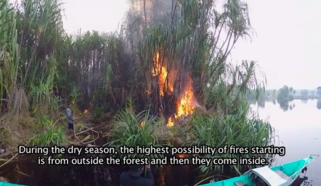 "The Burning of Borneo's Peat Swap Forest"", Copyright: Denise and Marc Dragiewicz"
