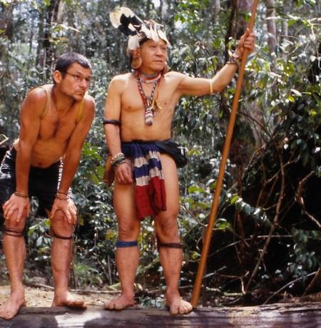Bruno Manser kämpfte für die Rechte der Penan auf Sarawak. Die Malaysische Regierung erklärte ihn 1990 zum Staatsfeind Nr. 1. Copyright: AMP Film Stockholm.