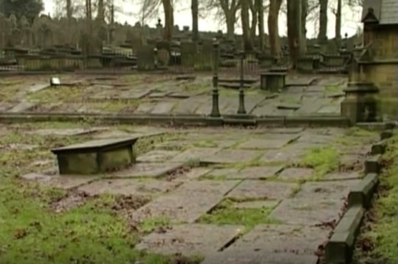 Friedhof neben dem Haus der Familie Brontë in Haworth, West Yorkshire. Copyright: The Great British Channel.