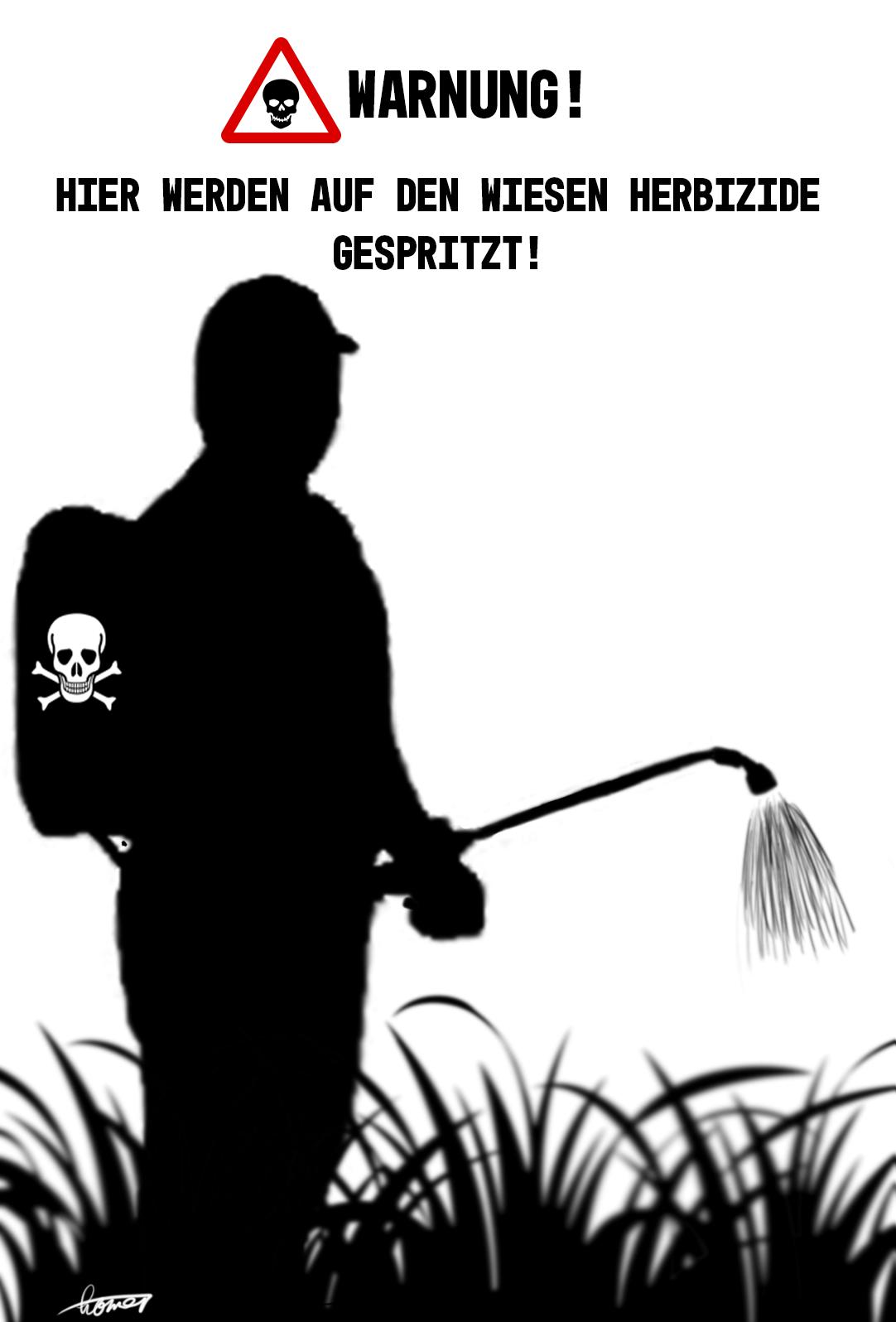 Plakat für Wanderwege. Druckversion. Copyright: Vecker Idee, Homer Graphik.