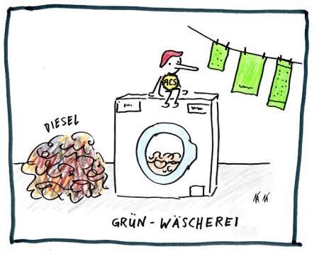 Auch in der Schweizer Politik wird laufend GRÜN-gewaschen.