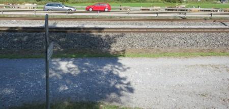 ... und der Bahnlinie. Alpabzug 15.9.18.