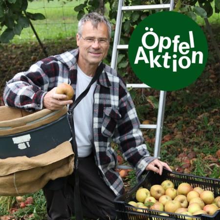 Ralph Hablützel ist Bio-Bauer und zuständig für das Projekt «Pestizidfreie Schweizer Landwirtschaft» bei Vision Landwirtschaft: «Aufgrund des diesjährigen Obstüberangebotes suchen wir von Vision Landwirtschaft für ungespritzte Hochstamm-Äpfel zusätzliche Abnehmer. Da kam der Öpfelchasper wie gelegen».