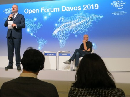 Alois Zwinggi, Managing Director, World Economic Forum, eröffnet das Open Forum Davos 2019.