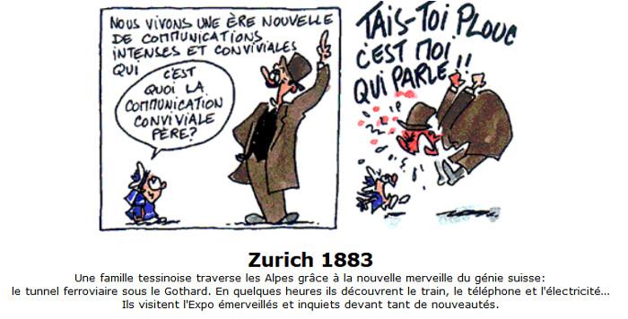 TOUS À L'EXPO, Kapitel Zürich 1883. Copyright: Fiami.