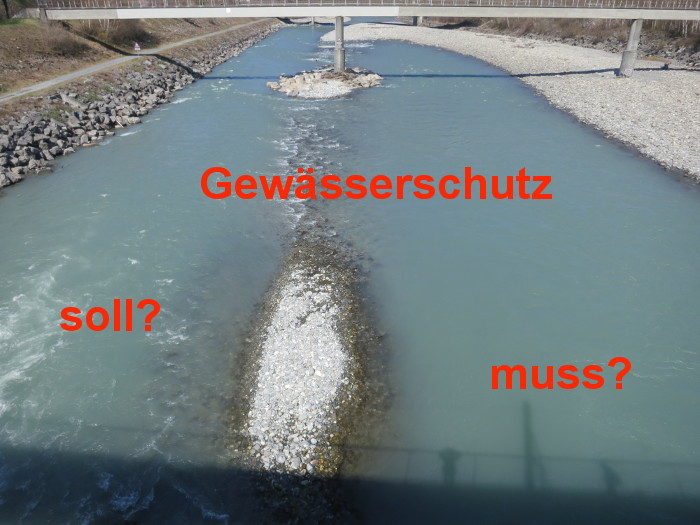 Rhein bei Maienfeld am 31.3.19
