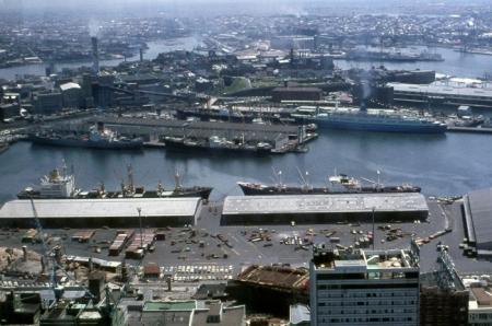 Hafen von Sydney Anfang 1970er Jahre.
