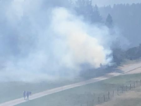 Mehrere Stunden lang brannte hier im Berner Jura ein Mottfeuer. Copyright: Hans T.