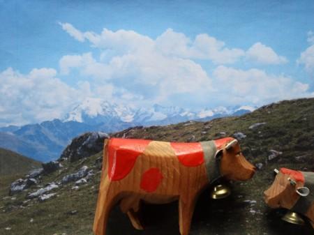 Im Jahre 2001: Die Bio-Milchkühe Luna und Viola auf einer konventionellen Alp.