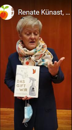 """Renate Künast, ehemalige Landwirtschaftsministerin in Deutschland, Buchpatin des Buches """"Das Gift und wir""""."""