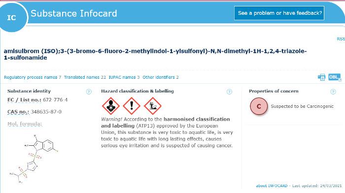 Amisulbrom: Neueinstufung der Europäischen Chemikalienagentur (ECHA)