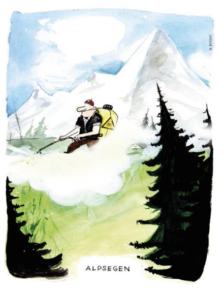 © Biedermann. Aus «Trittst im Alpengift daher» https://www.pestizidmythen.ch/#alpengift