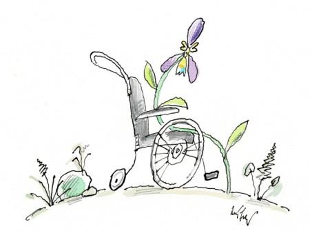 Cartoon von René Fehr. Copyright: Bio-Stiftung Schweiz