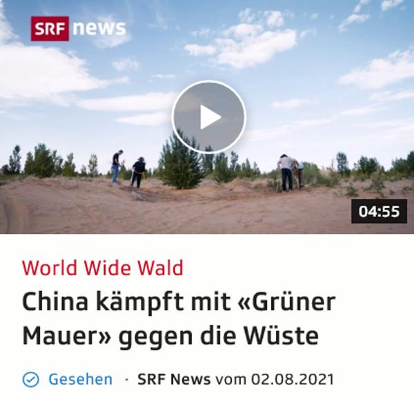 Das Schweizer Fernsehen brachte heute einen interessanten Beitrag über Aufforstung von Wüste. Heidi hat daher nachgeschaut wie es sonst mit dem Wald in China steht.