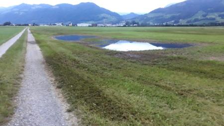 Es ist verboten, Gülle auf wassergesättigten Boden auszubringen.