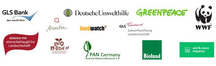 Autoren einer Studie zur Pestizid-Abgabe und die unterstützenden NGOs gemeinsam mit der GLS Bank plädieren für die Einführung einer Pestizid-Abgabe für alle chemisch-synthetischen Pestizide.